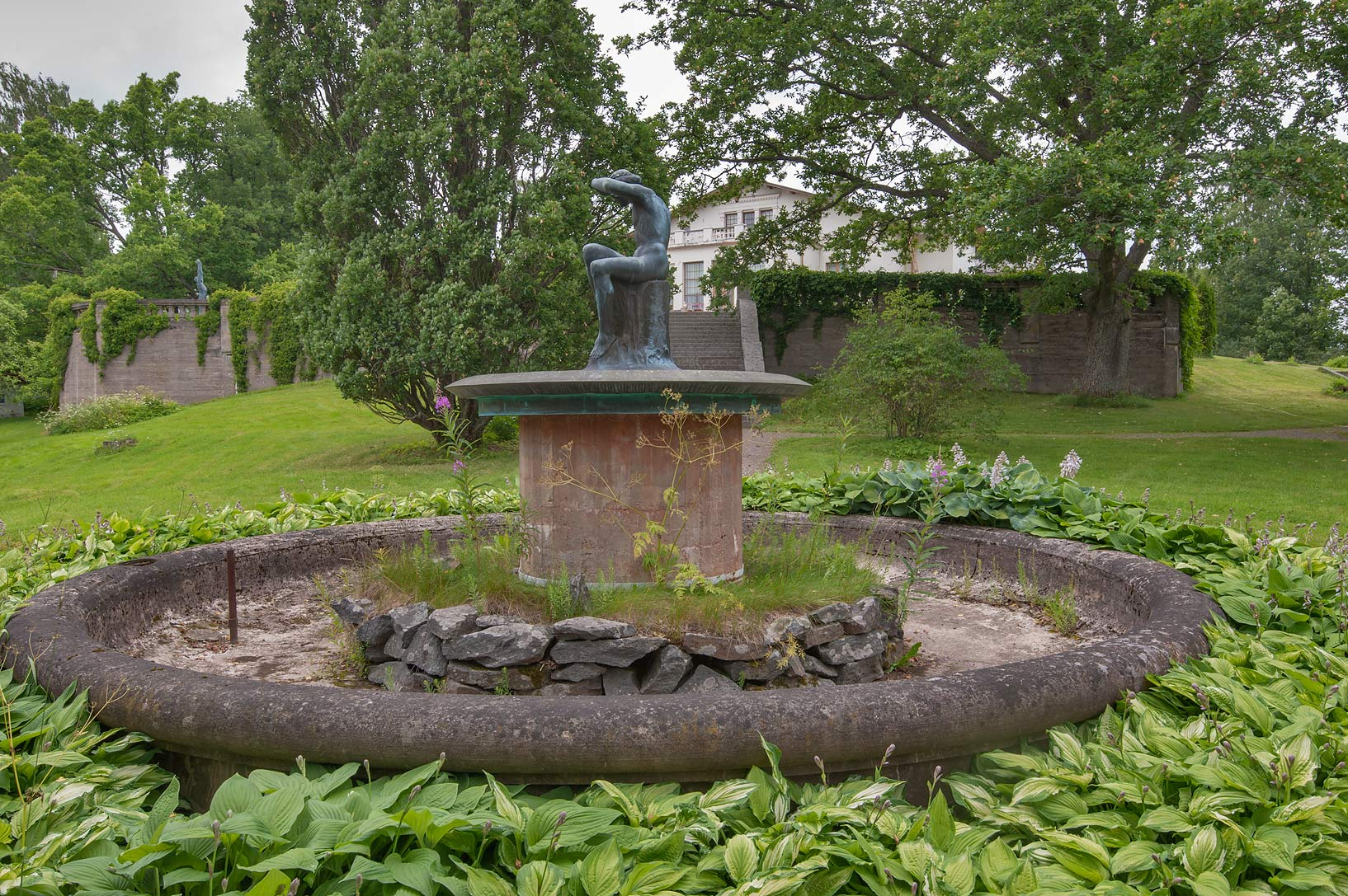 Fountain of Konstantin Kiselev Farmstead west from Helsinki, Finland