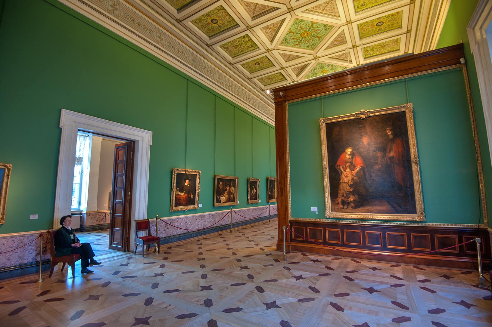 Rembrandt Hall in Hermitage Museum. St.Petersburg, Russia