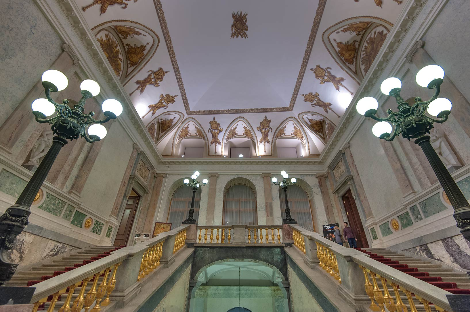 Grand staircase in Mikhaylovsky Castle. St.Petersburg, Russia