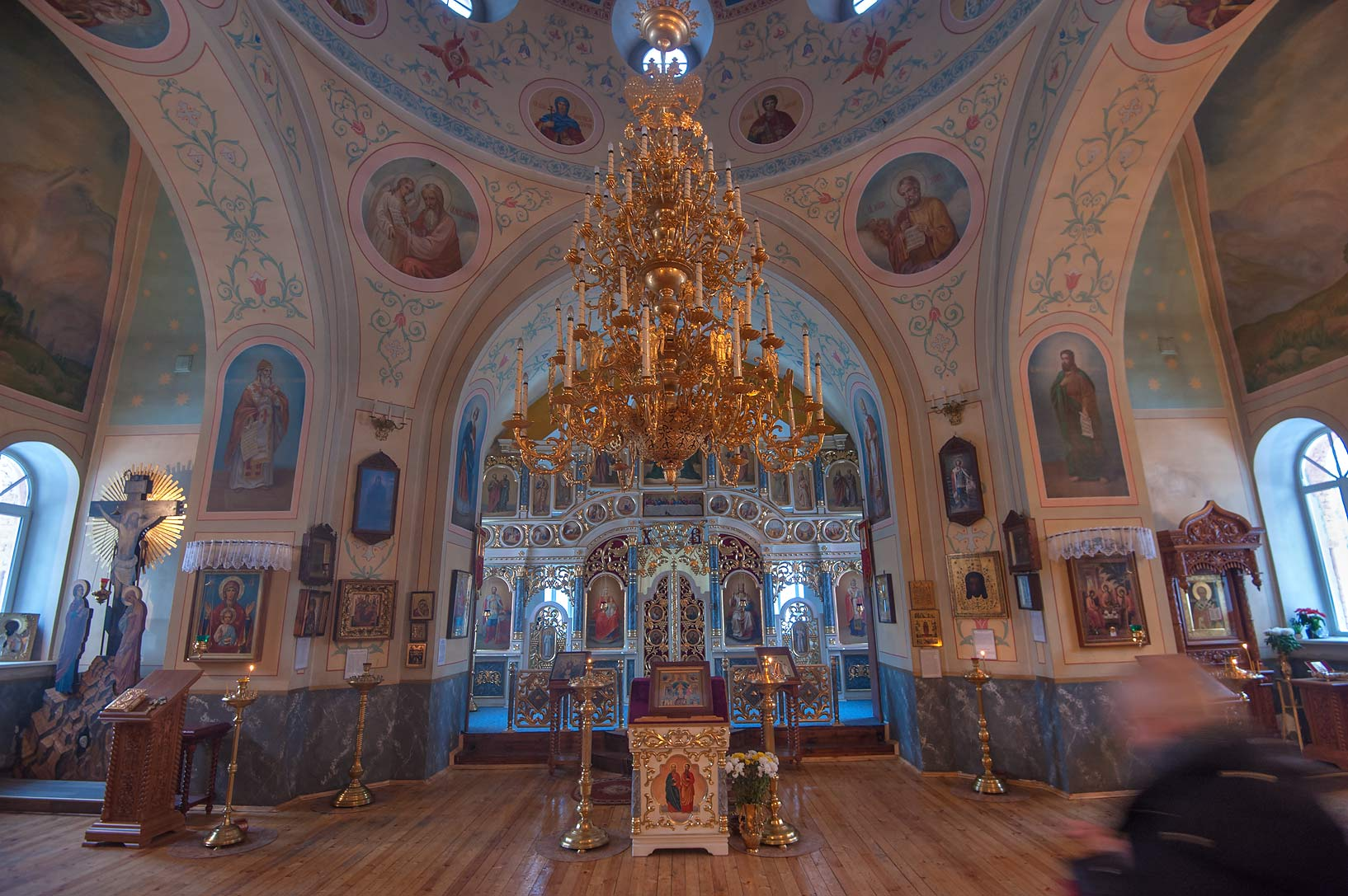 Interior of St. Nicolas the Miracle-Worker Church...Region of Leningrad District, Russia