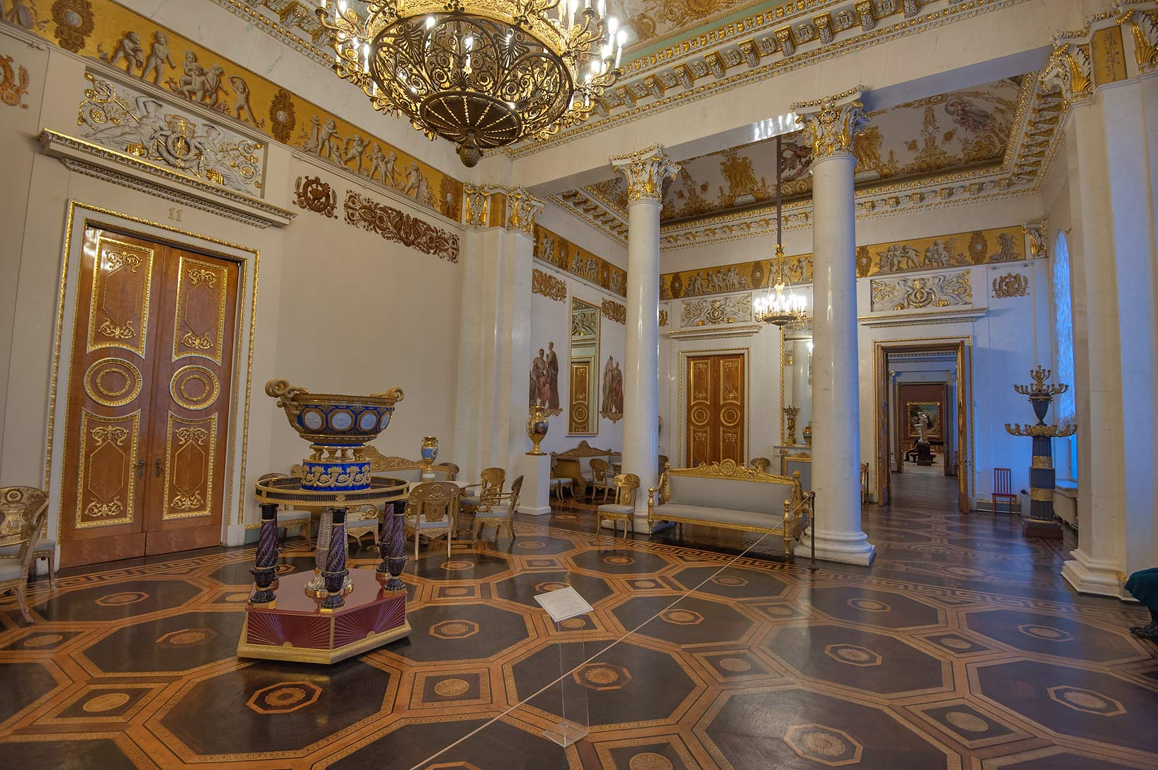 White Hall in Russian Museum. St.Petersburg, Russia