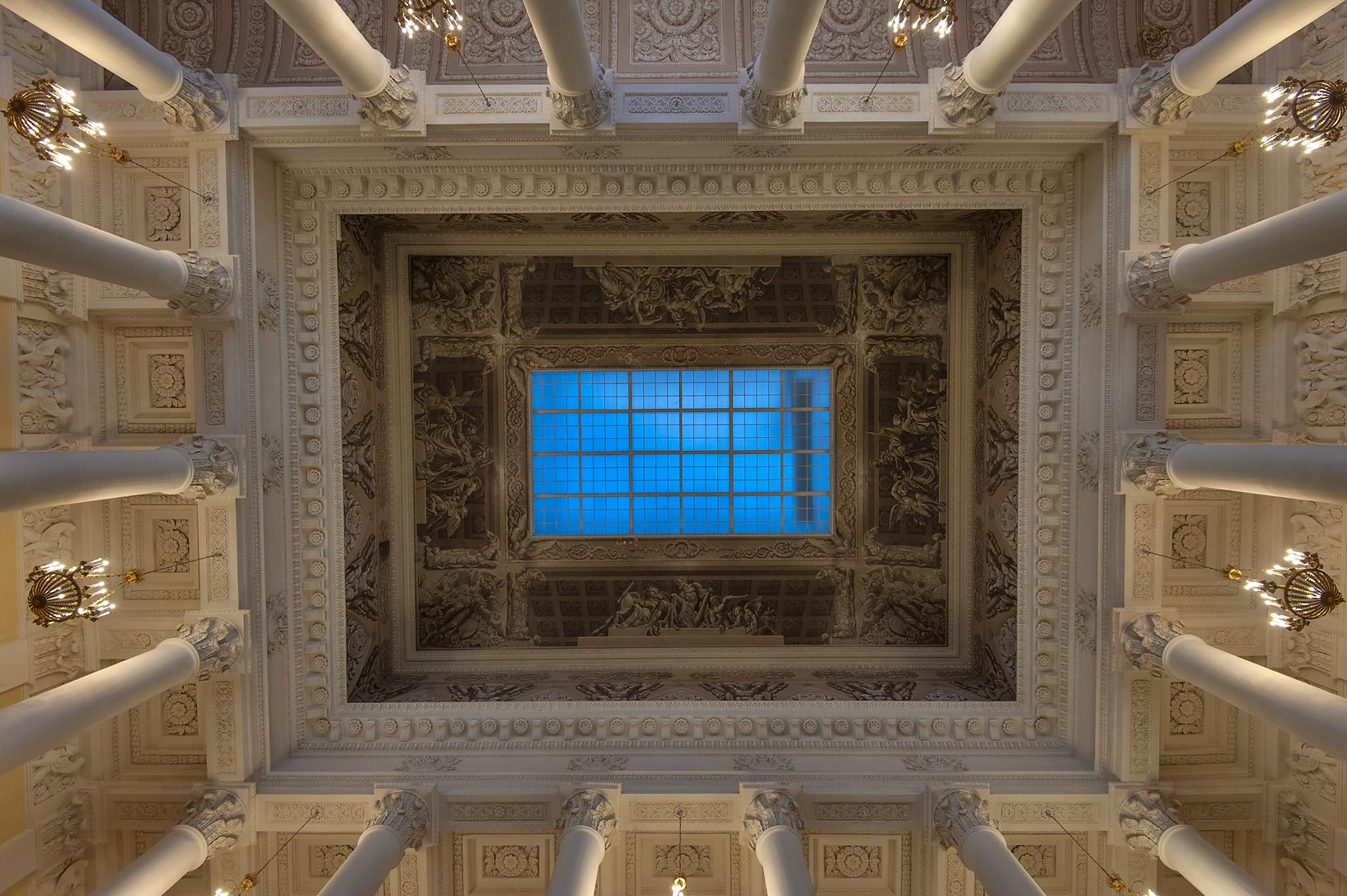 Ceiling at the entrance Russian Museum. St.Petersburg, Russia