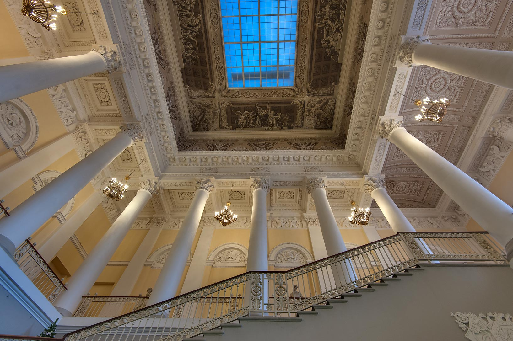 Grand staircase of Russian Museum. St.Petersburg, Russia