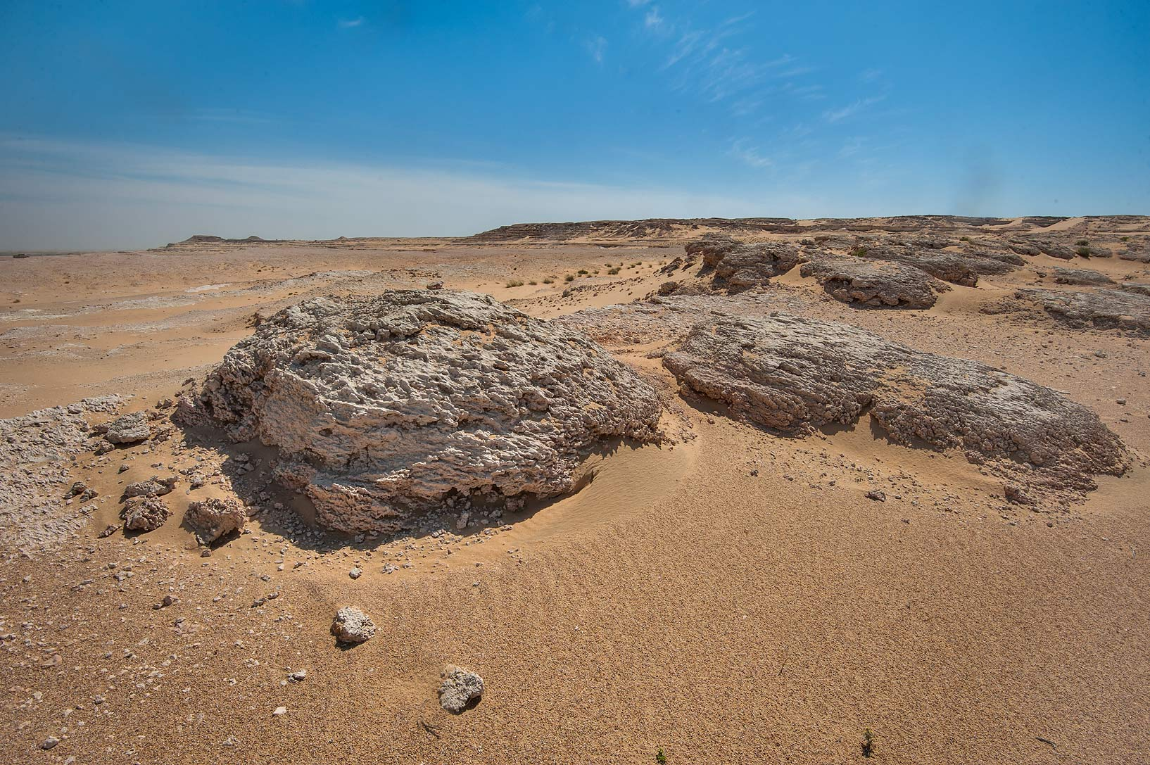 Fossilized stromatolites (microbial mats) in area...Jebel Al-Nakhsh in south-western Qatar