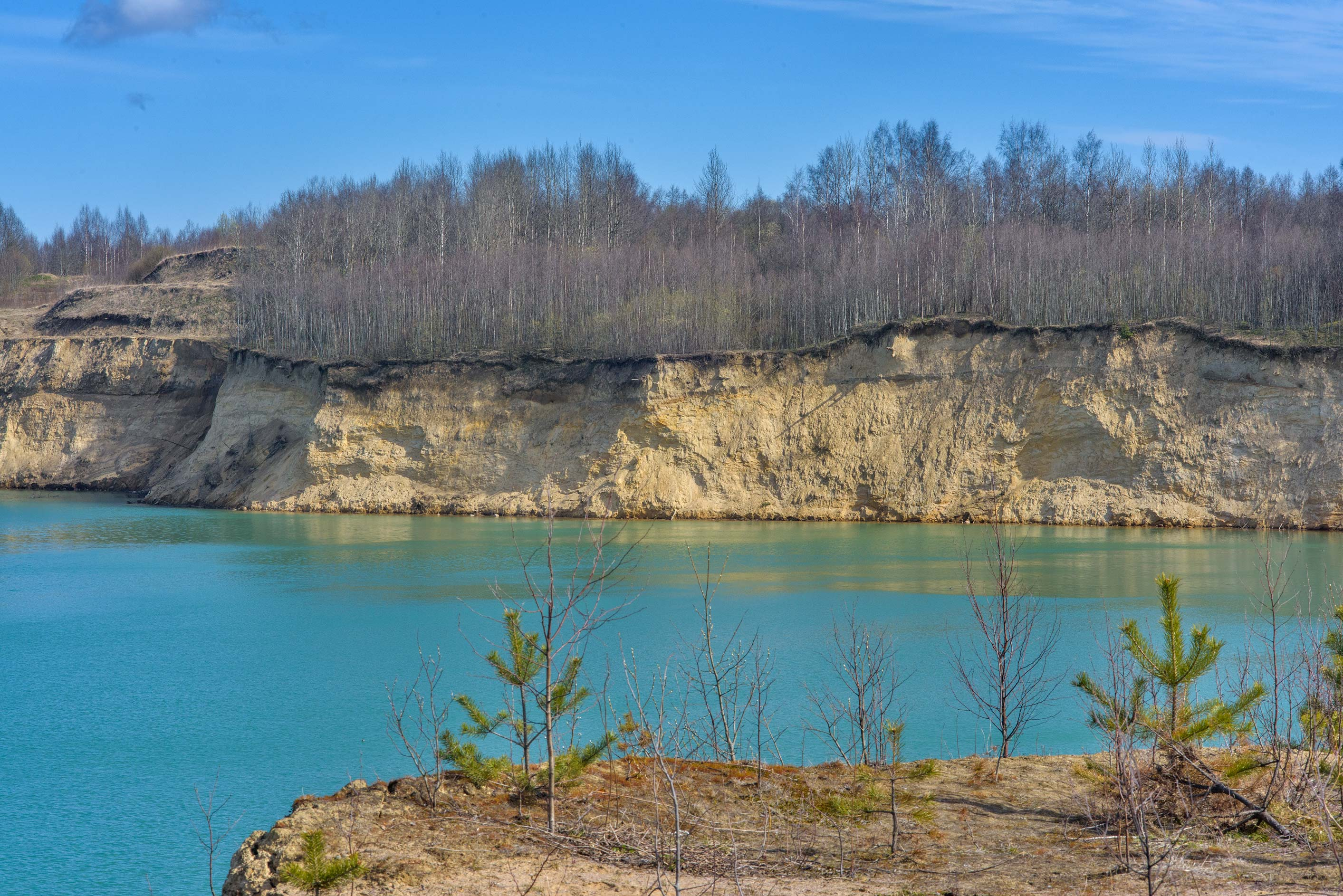 East part of Kuzmolovo Quarry north from St.Petersburg. Russia