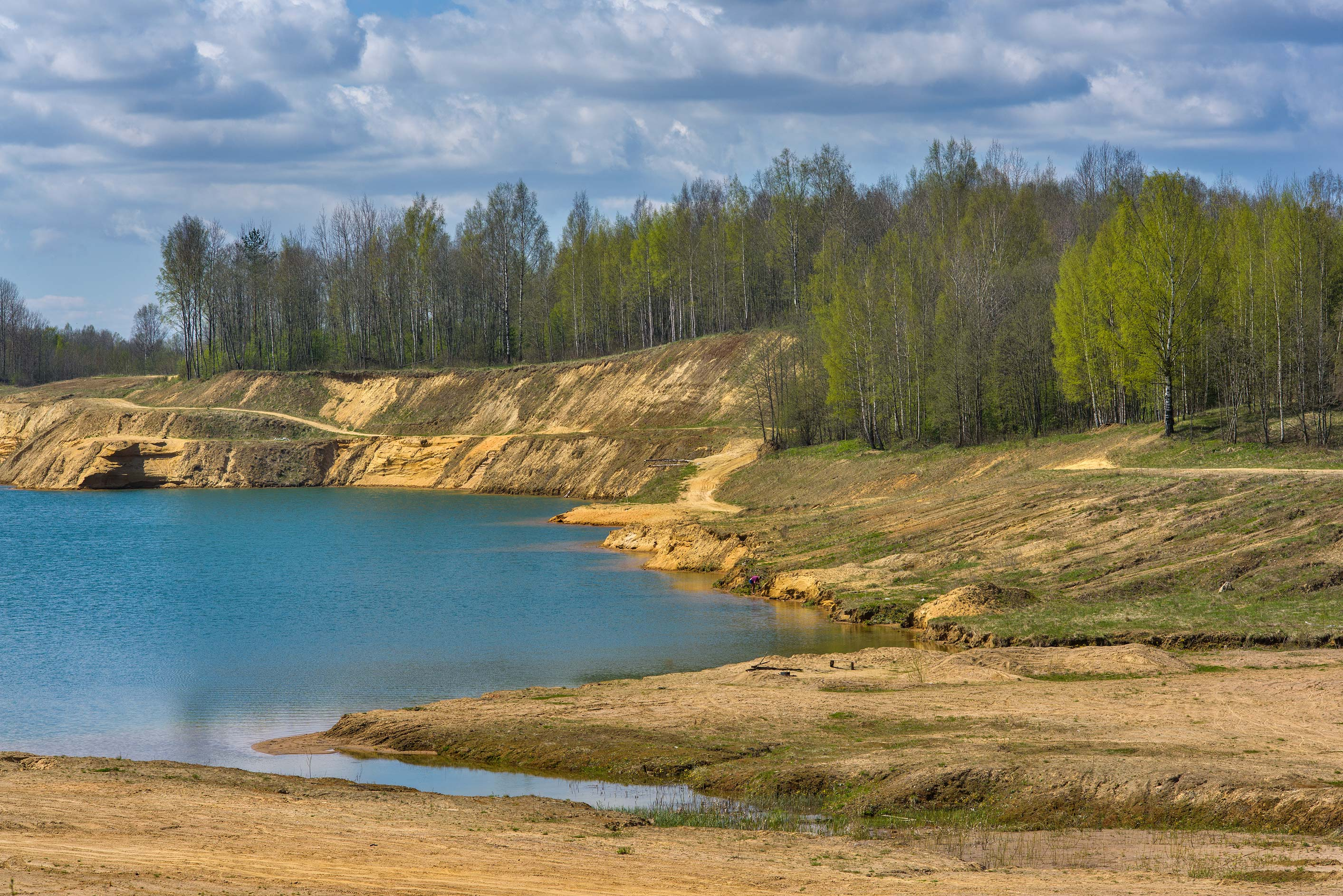 West side of a sandpit in Kuzmolovo, north from St.Petersburg. Russia