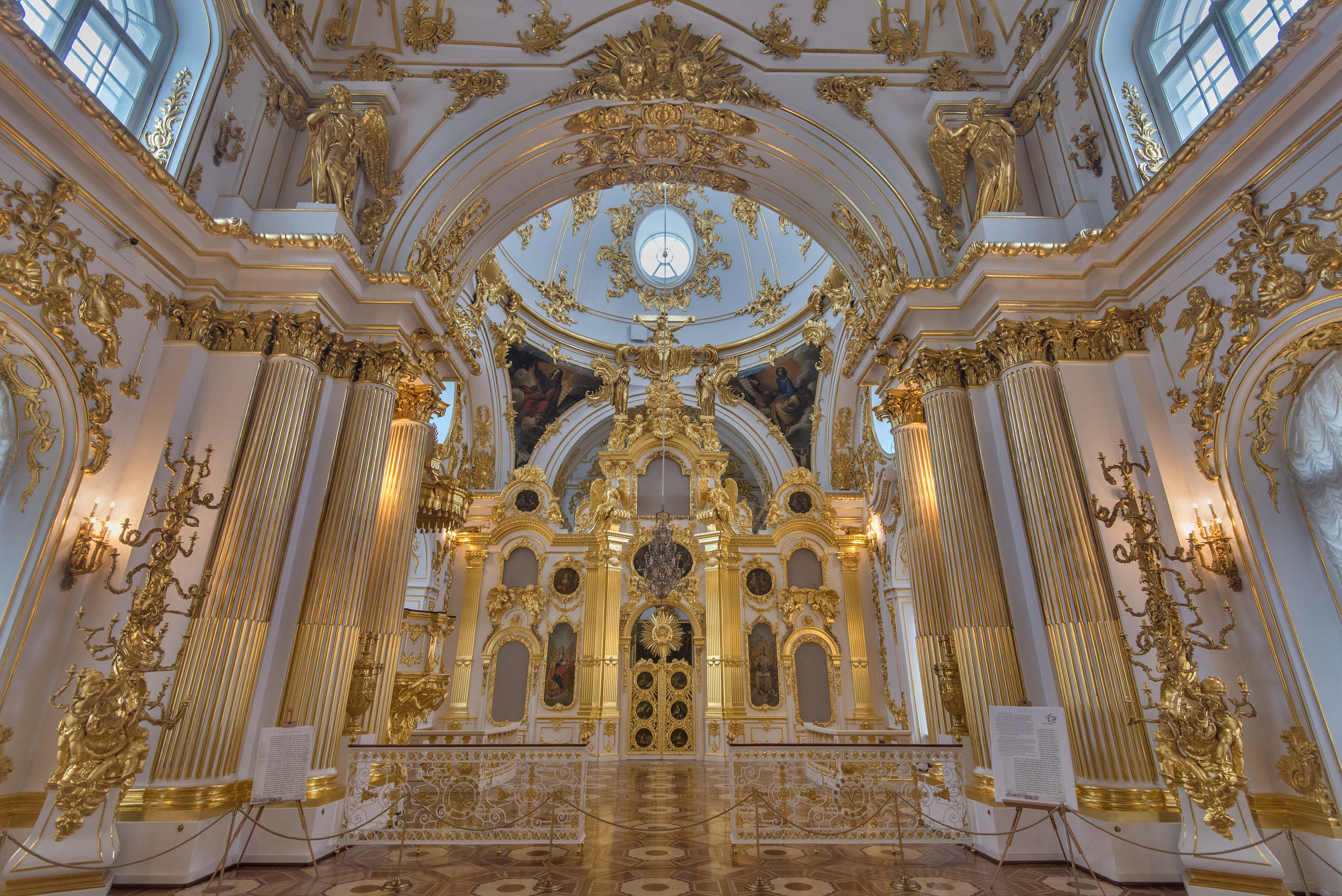 Church of Winter Palace in Hermitage Museum. St.Petersburg, Russia