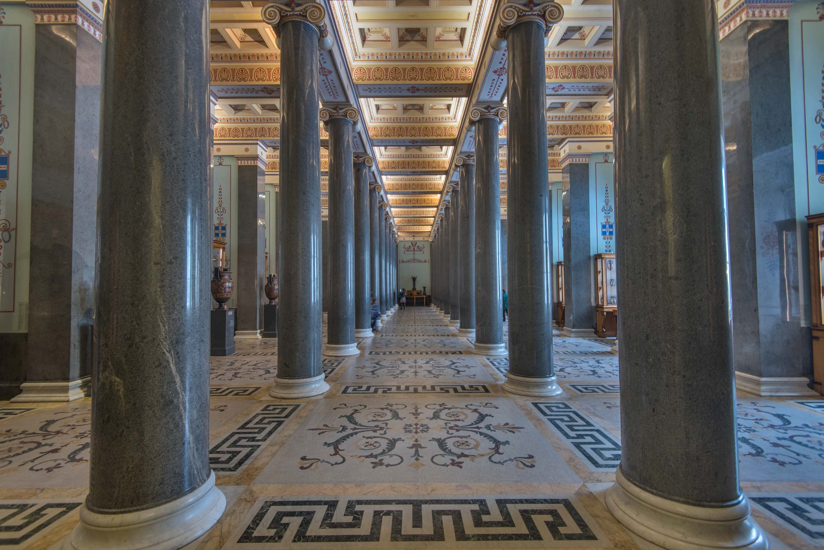 Hall of Twenty Columns in Hermitage Museum. St.Petersburg, Russia