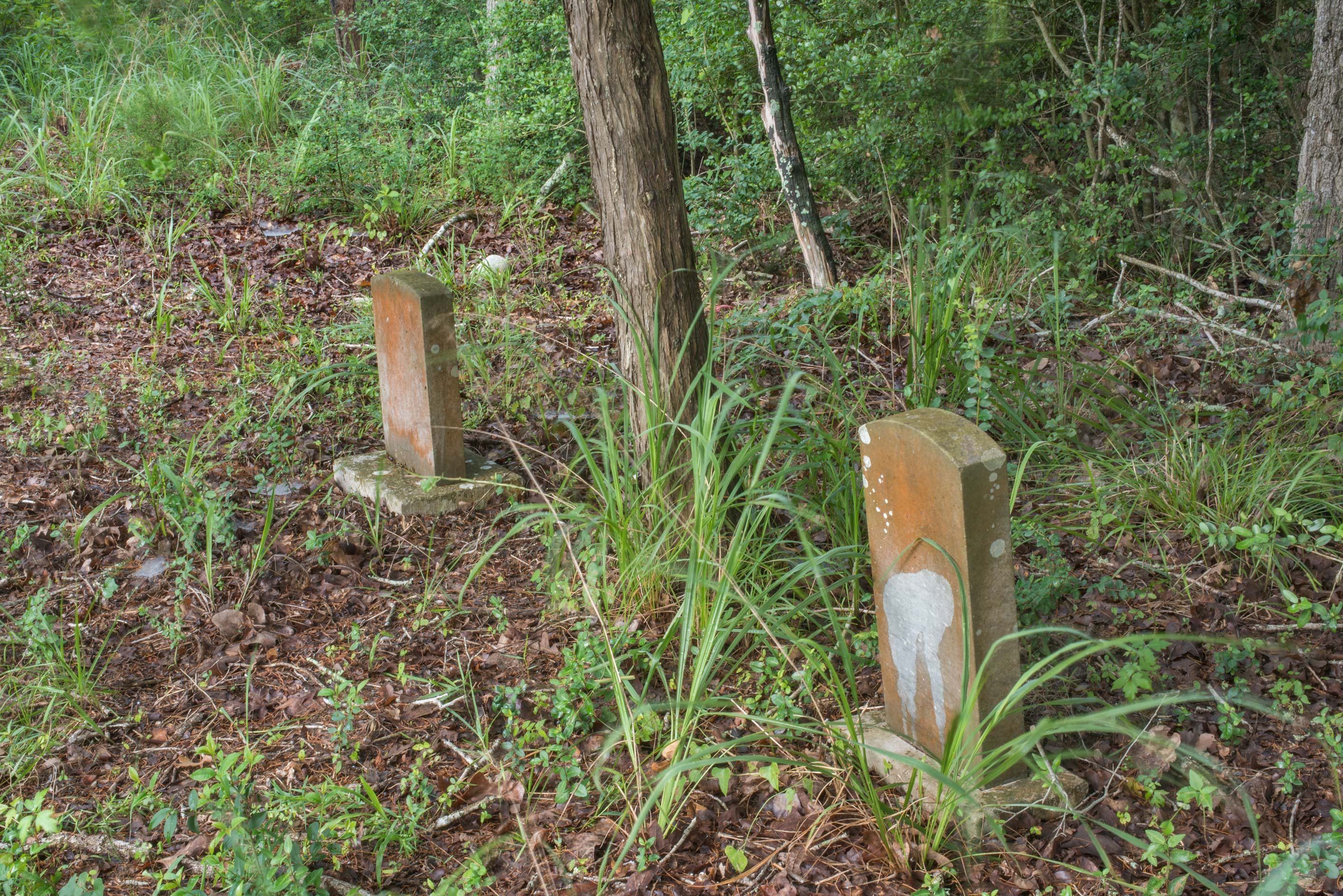 Unmarked tombstones in Washington Cemetery. Washington, Texas